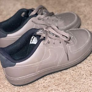 Nike Air force Ones in Tan and Black